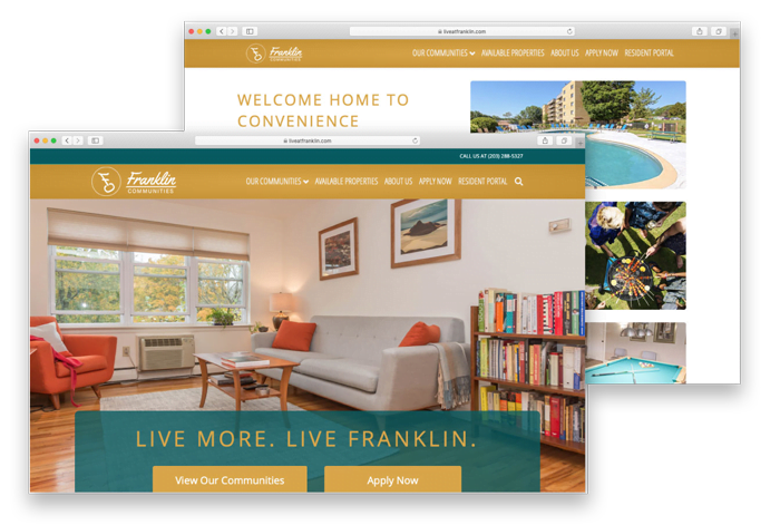 Franklin Communities Website Mockup