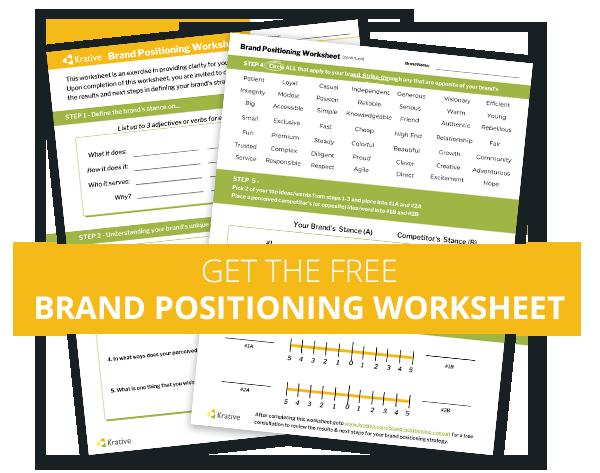 Krative brand positioning worksheet