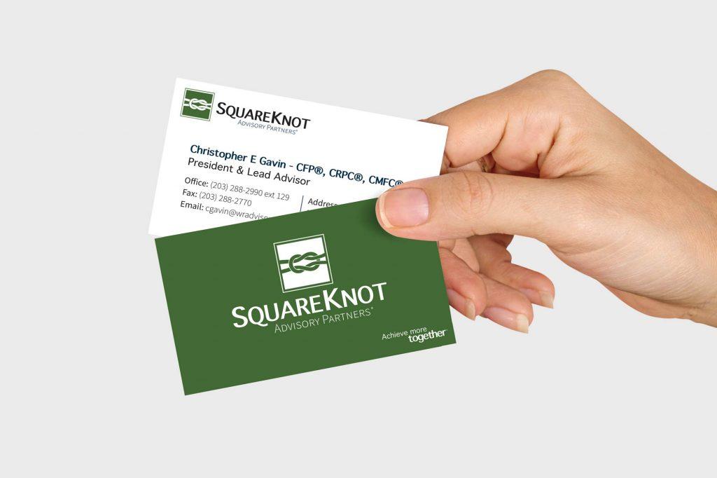 Squareknot Advisory Partners logo & business card design