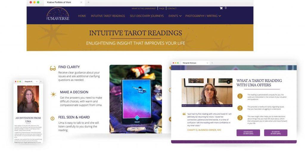 Umaverse website design by krative